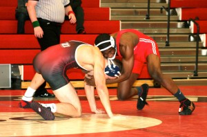 Troy Sterling (Cortland) dec. Dan Graff (Oneonta) 7-5, 157 lbs (2)