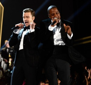 "Justin Timberlake returned to the stage for his new song ""Suit & Tie"" featuring Jay-Z."