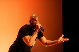 Darryl McDaniels is anything but a boring speaker. Image courtesy of Vincent Crabtree